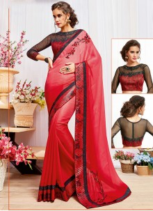 Dignified Red Shaded Saree