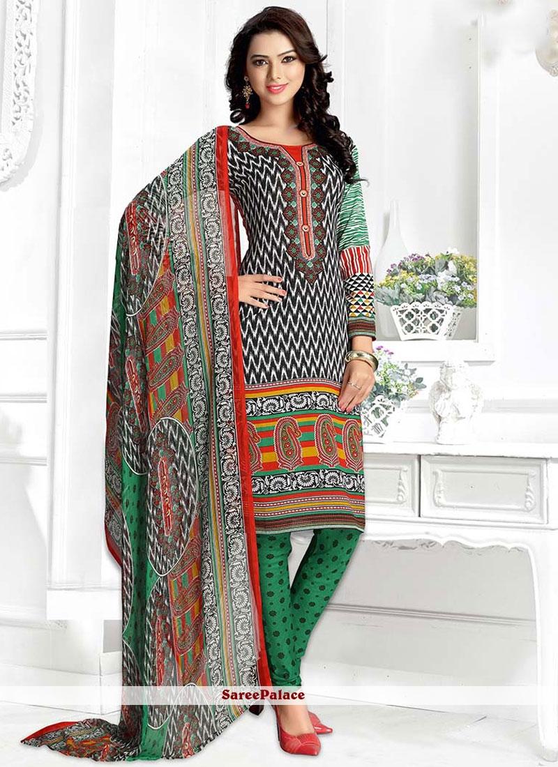 Dilettante Multi Colour Churidar Suit