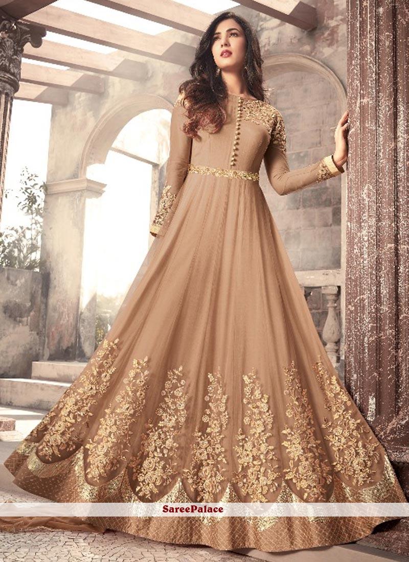 63be426b88 Buy Dilettante Net Floor Length Anarkali Suit Online