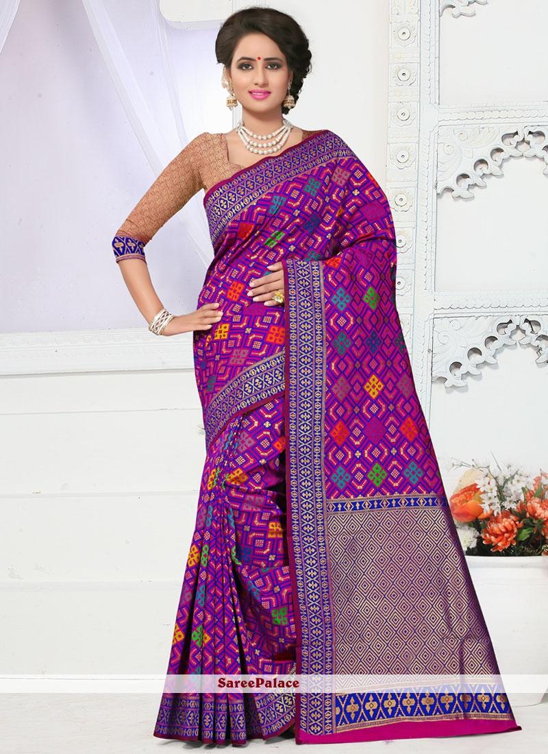 Divine Banarasi Silk Weaving Work Traditional  Saree