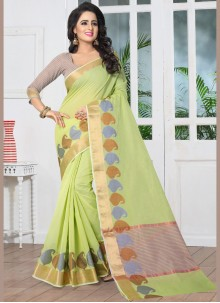 Divine Green woven Work Traditional Designer Saree