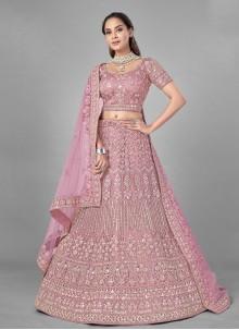 Pink Dori Work Lehenga Choli