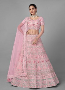 Dori Work Pink Lehenga Choli