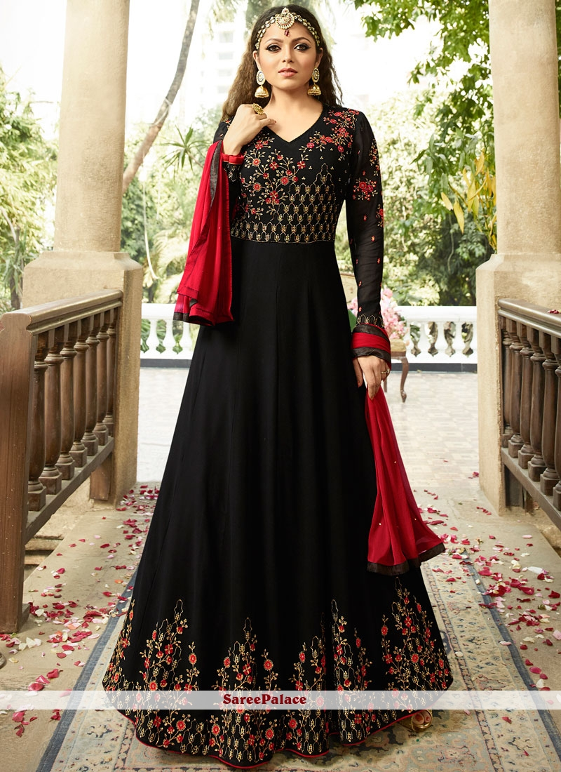 ddb9794e6cc Buy Drashti Dhami Embroidered Work Floor Length Anarkali Suit Online