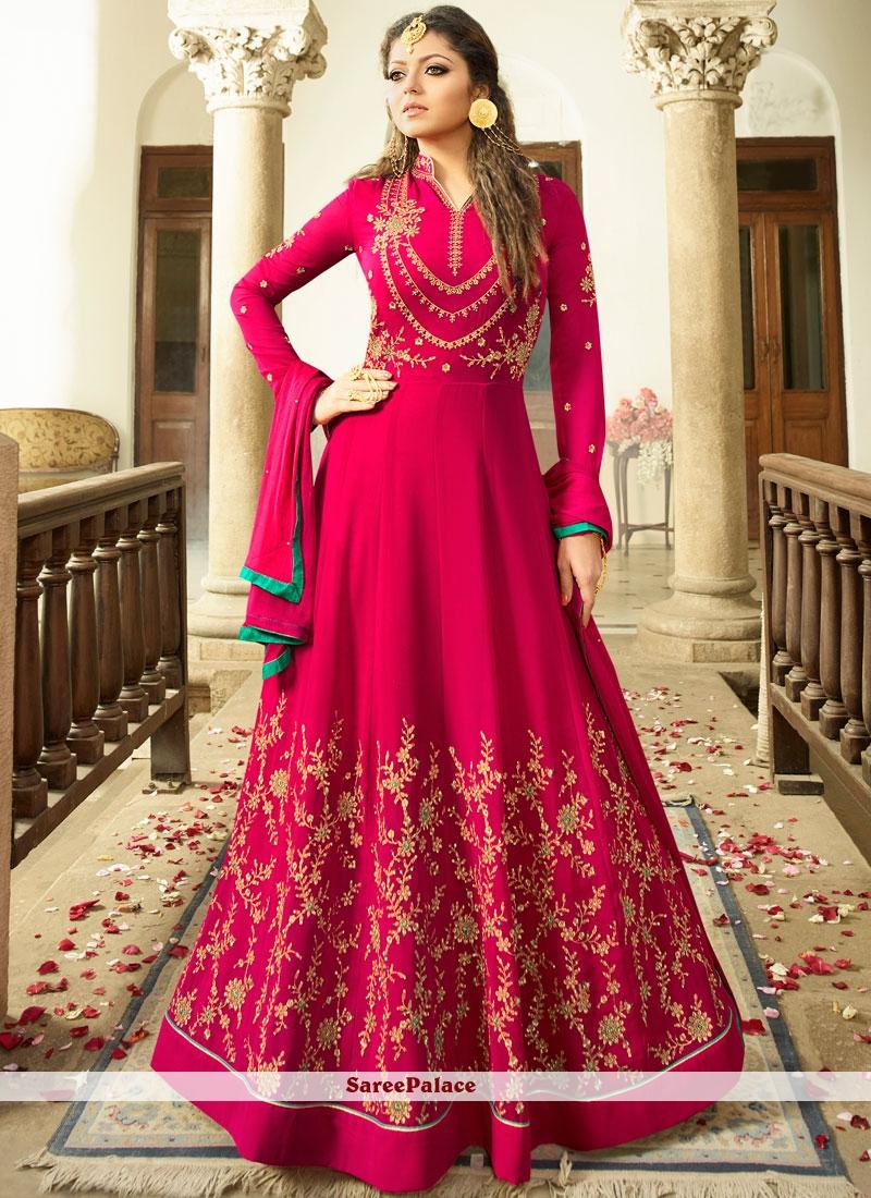 49371f9275 Buy Drashti Dhami Resham Work Faux Georgette Floor Length Anarkali Suit  Online