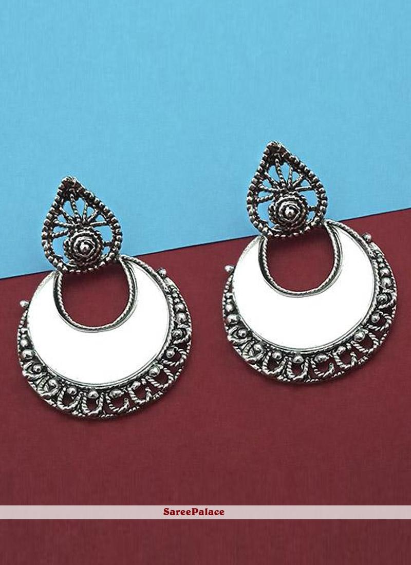 Ear Rings Mirror in Silver