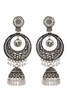 Ear Rings Stone Work in Silver