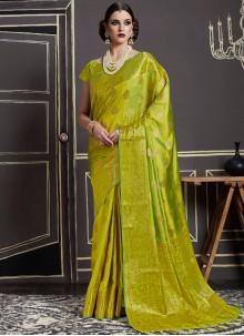 Elegant Art Silk Weaving Work Traditional  Saree