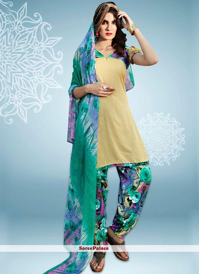 e8fdcc6727 Buy Elegant Print Work Punjabi Suit Online
