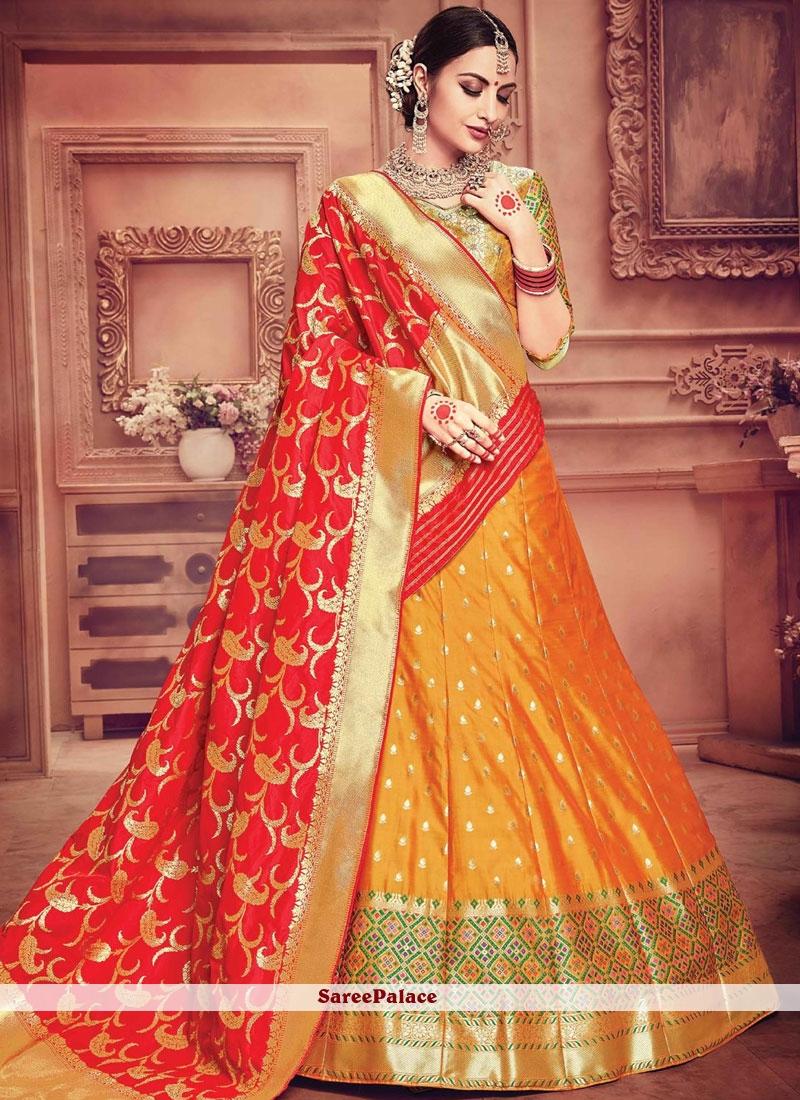 dd622f4d6f Buy Elite Banarasi Silk Designer Lehenga Choli Online