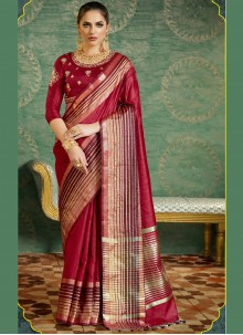 Elite Fancy work Work Silk Designer Saree