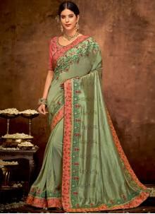 Embroidered Art Silk Classic Designer Saree