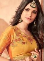 Embroidered Art Silk Green Classic Designer Saree