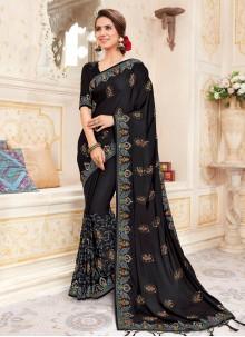Embroidered Art Silk Saree