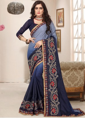 Embroidered Art Silk Trendy Saree