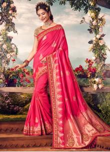 Embroidered Banarasi Silk Classic Designer Saree