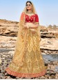 Embroidered Beige Lehenga Choli