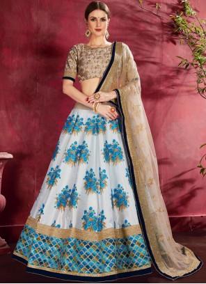 Embroidered Blue Designer Lehenga Choli