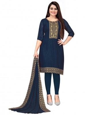 Embroidered Blue Designer Salwar Suit