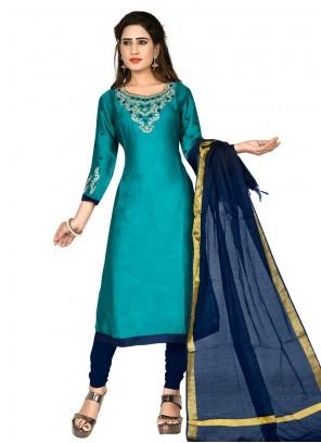 Embroidered Blue Salwar Kameez