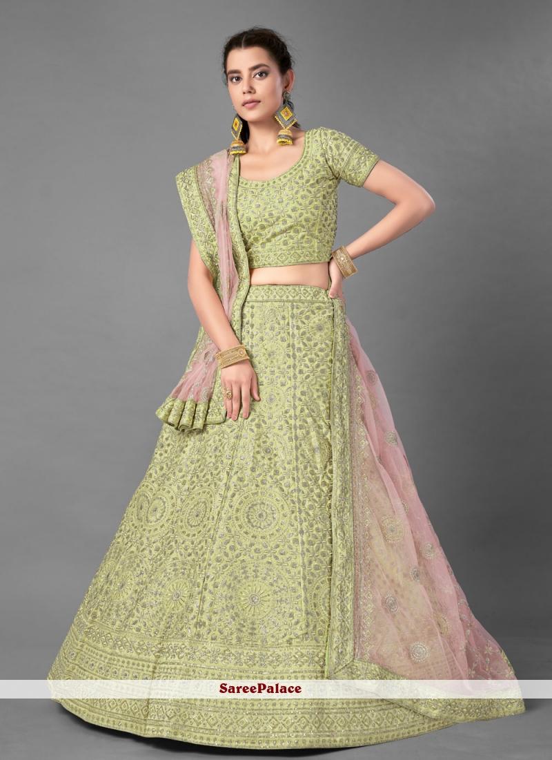 Green Embroidered Bollywood Lehenga Choli
