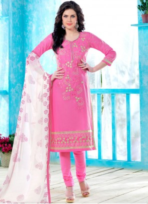 Embroidered Casual Churidar Suit