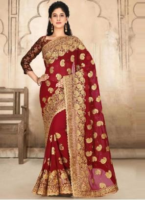 Embroidered Ceremonial Classic Designer Saree