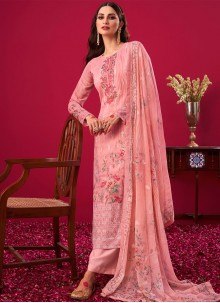 Embroidered Ceremonial Pink Designer Pakistani Salwar Suit