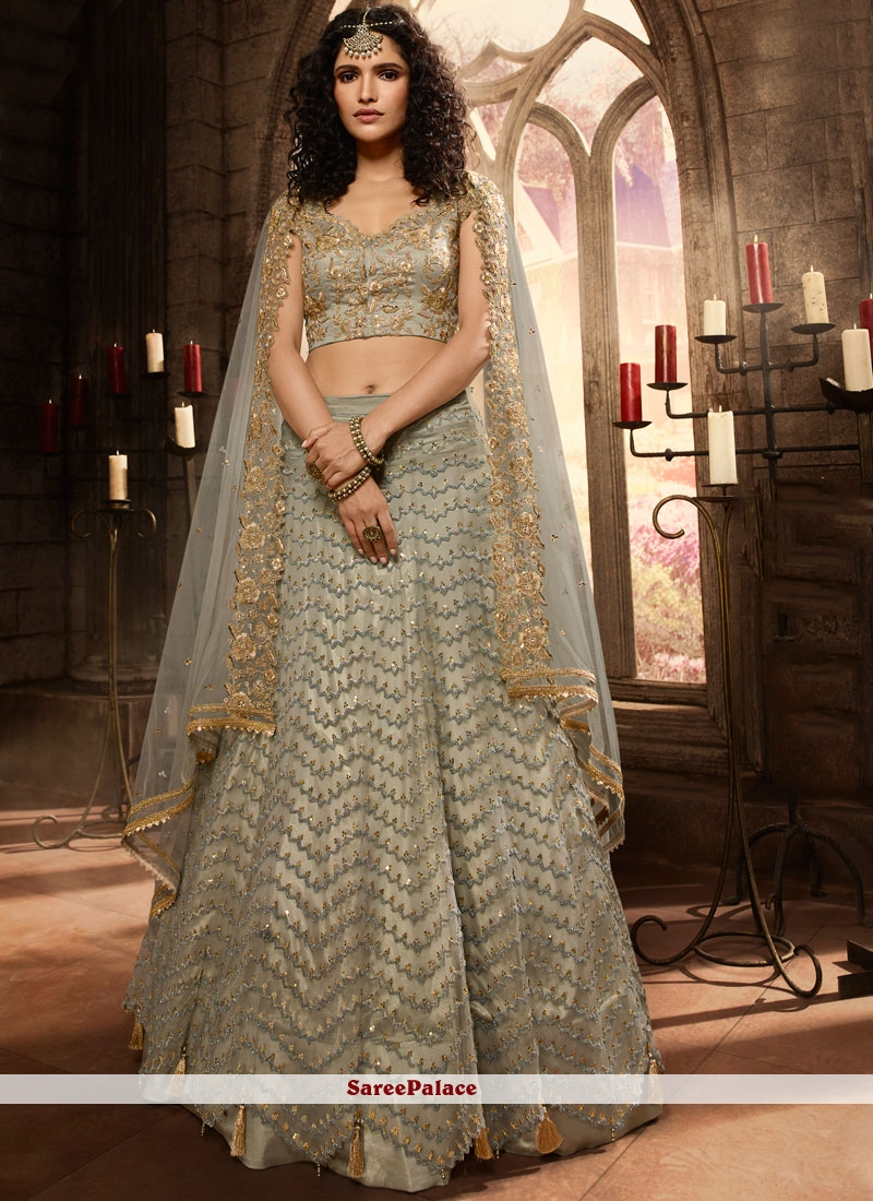 Embroidered Ceremonial Trendy A Line Lehenga Choli