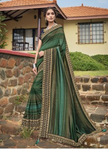 Embroidered Chanderi Classic Designer Saree in Multi Colour