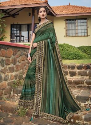 Embroidered Chanderi Classic Designer Saree in Multi Colour