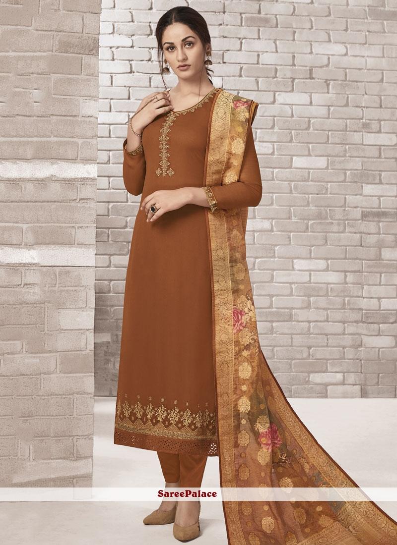 Embroidered Churidar Designer Suit