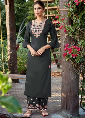 Embroidered Cotton Silk Designer Pakistani Suit