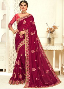 Embroidered Designer Bridal Sarees