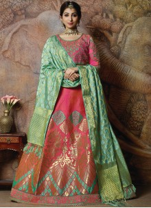 Rose Pink Embroidered Designer Lehenga Choli