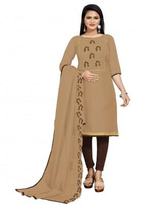 Embroidered Fancy Fabric Churidar Salwar Suit