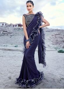 Embroidered Fancy Fabric Classic Designer Saree