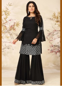 Embroidered Festival Black Readymade Suit