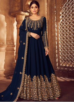 Embroidered Georgette Anarkali Salwar Kameez