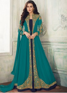 Embroidered Georgette Salwar Suit
