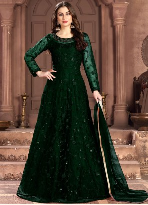 Embroidered Green Salwar Suit