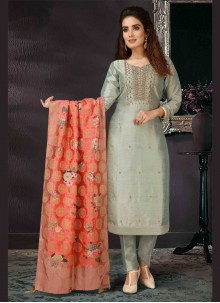 Embroidered Grey Trendy Salwar Kameez