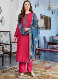 Embroidered Hot Pink Designer Pakistani Suit