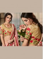 Embroidered Jacquard Classic Designer Saree in Pink