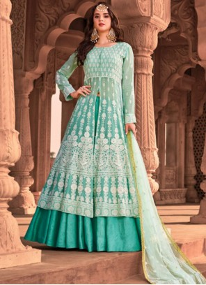 Embroidered Long Length Trendy Suit