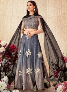 Embroidered Lycra Trendy A Line Lehenga Choli