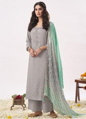 Embroidered Muslin Designer Pakistani Salwar Suit