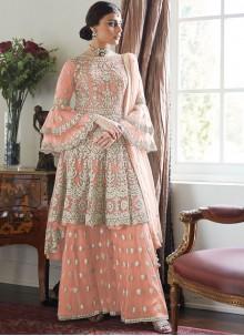 Embroidered Net Designer Salwar Kameez