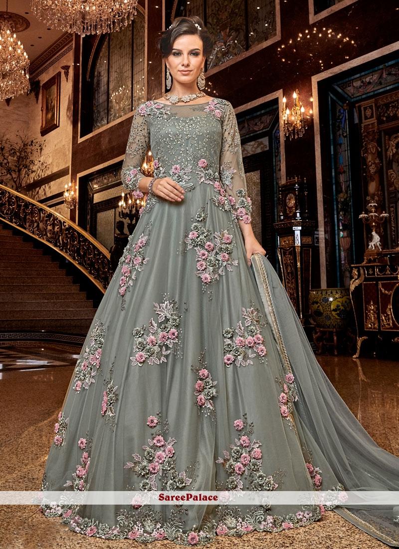 Embroidered Net Designer Salwar Suit