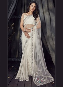 Embroidered Net Designer Saree